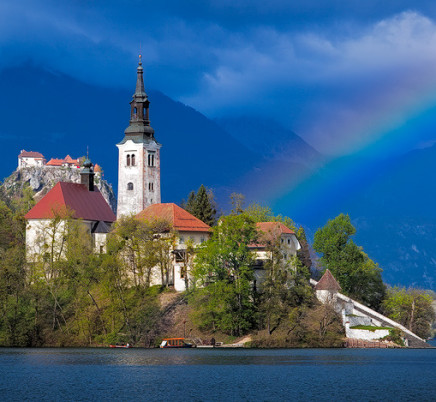 lake-bled-church-slovenia-rainbow
