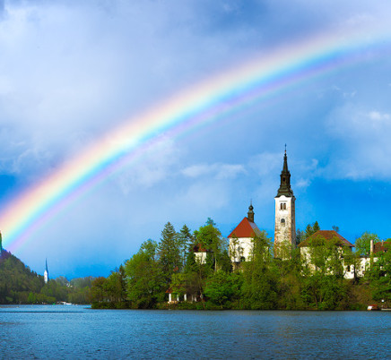 lake-bled-slovenia-church-rainbow