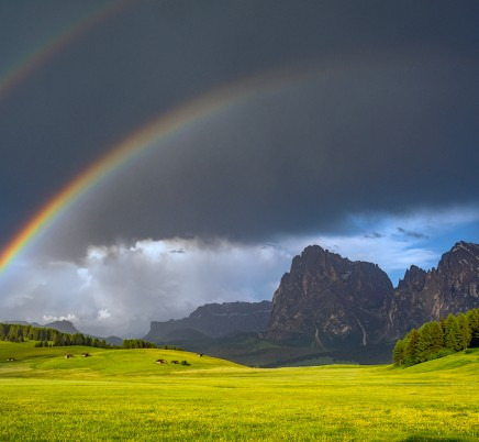 rainbow mountains dolomites italy